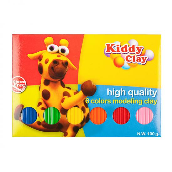 Kiddy Clay Tabaka Model Hamur 6 Renk 100 Gram